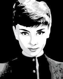 arte da parede da lona de audrey hepburn Desconto Audrey Hepburn Arte Fina Giclee Impressão de Lona Arte na Arte Da Parede Da Lona Pintura A Óleo Cartaz Imagem Home Office Decor