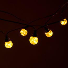 Argentina Enchufe EE. UU. / UE 30FT 25Bulbs Led Globe String Light Impermeable Plastic Globe Light String Luz de Navidad Garland Alambre de cobre Alambre Cadena de Patio Suministro