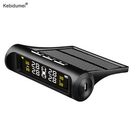 car alarm auto security Coupons - kebidumei Car TPMS Tyre Pressure Monitor System Solar Charger Digital LCD Display Auto Security Alarm Systems Car electronics