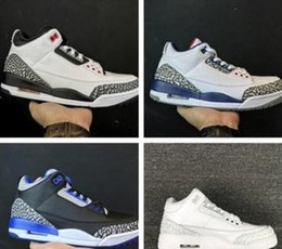 separation shoes 81c02 f44c3 Nuevo Barato 3 blanco negro cemento infrarrojo 23 zapatos de baloncesto  Zapato para hombre diseñador 2018 GS lobo gris zapatillas avanzadas tamaño  8-13