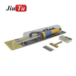 Toque la cuchilla online-Jiutu Heating Blade Teléfono móvil Pantalla LCD Separador táctil Pala Raspadura Pegamento Quitar herramienta OCA Limpiar calentador para teléfono