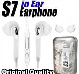 Wholesale galaxy control - Original Quality Earphones For S7 S6 edge Galaxy Headphone High Quality In Ear Headset With Mic Volume Control For Iphone 5 6s WithRetail