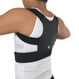 Cinto de postura correta de volta on-line-Homens Corrector de postura Magnética Ortopédico Suporte Traseiro Corrimão Posture Correto Brace Corretor de postura 12 Ímãs XL XXL B001