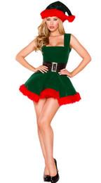 De haute qualité Sexy Adultes Femmes Vert Elf Père Noël Costume De Noël Sexy Santa Cosplay De Noël Costume Déguisement ? partir de fabricateur