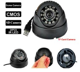 Wholesale Ir Board Lens - FreeShipping wholesale 24 Leds IR Night Vision Indoor USB Dome CCTV Camera Security Surveillance black & white with retail box