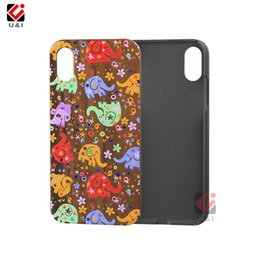 Wholesale Cell Phone Covers Animal Print - Charming print wood cell phone cases for iPhone x hybrid animal laser engrave luxury back cover for i Phone 10 6 7 8
