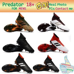 Wholesale Hot Pink Ankle Boots - Hot High Ankle Boots ACE Predator 18+ FG Copa Tango Soccer Shoes Mens Outdoor Indoor Predator Accelerator Football Soccer Cleats black