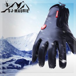 Открытый водонепроницаемый ветрозащитный лыжные перчатки зима флис Сноуборд перчатки для мотоциклов Велоспорт пешие прогулки катание на лыжах от Поставщики кожаное освещение