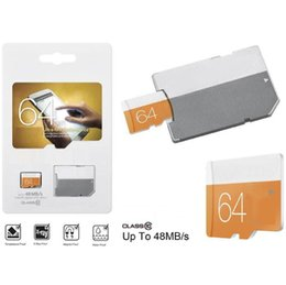 Wholesale 2gb Sd Memory Card Wholesale - 100% Real capacity EVO 64GB 32GB 16GB 8GB 4GB 2GB Micro SD TF Memory Card Free SD Adapter Retail Blister Package memory tf card