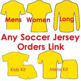 Wholesale Red Short Sweater - 17 18 Soccer Jersey Any Team Football Shirts kids woman tracksuits sweater men Soccer Uniforms Customers Order Link jacket and pants coat