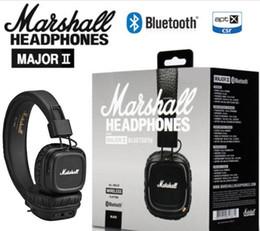 Wholesale Wireless Noise Isolating Headset - Marshall Major II 2.0 Bluetooth Wireless Headphones DJ Headphone Deep Bass Noise Isolating Headset Earphone for iPhone Samsung Free Shipping