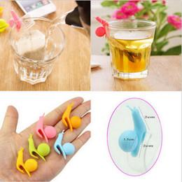 2019 bolsa de regalo al azar Lovely Snail Shape Silicone Tea Bag Holder Cup Mug Candy Colors Gift Set Color al azar envío gratis bolsa de regalo al azar baratos