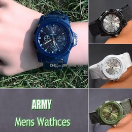 2018 Горячие новые поступления Спорт мужские военные часы швейцарский Gemius армия нейлон ремешок Кварцевые наручные часы от