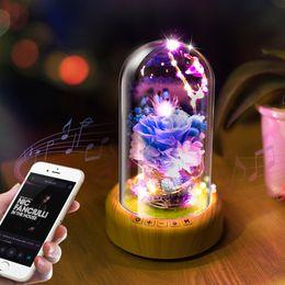 la batteria ha condotto le luci decorative della tabella Sconti LED Dream Streamer Bottiglia decorativa Luce notturna Batteria ricaricabile Altoparlante senza fili Bluetooth Abajur Lampada da tavolo Luminaria
