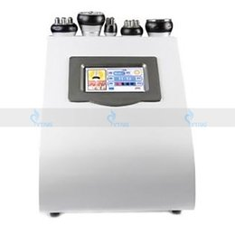 Wholesale tripolar radio frequency equipment - portable ultrasonic cavitation ultrasound liposuction vacuum equipment tripolar rf radio frequency skin lifting weight loss slimming machine