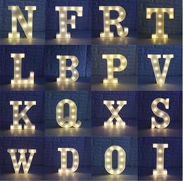 Canada Partie DIY 26 Lettres Blanc LED Night Ligh Pour Anniversaire De Fête De Mariage Chambre Tenture Murale Premium party décorations livraison gratuite BP087 Offre