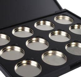 NOUVELLE ARRIVÉE En Gros-10 Pack Maquillage Cosmétique Vide 12 pcs En Aluminium Magnétique Ombre À Paupières Ombre À Paupières Pigment Pans Palette Cas ? partir de fabricateur