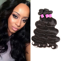 I capelli vendono alla rinfusa online-Cheap Brazilian Virgin Human Hair Bundles hot Selling Body Wave Remy Human Hair Weaves Bulk Peruvian Hair Extensions Wefts Wholesale Price
