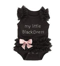 Маленькое черное платье для девочек-малышей онлайн-INS симпатичные infantil девушка слоеного рукав горный хрусталь маленький черный пачка платье малыш девочка 0-36 м девочка принцесса ползунки одежда