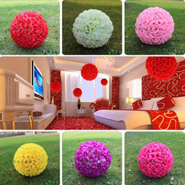 "kiss flowers Coupons - 30CM 12"" New Encryption Artificial Rose Silk Flower Kissing Balls Hanging Ball Christmas Ornaments Wedding Party Decorative Flowers"
