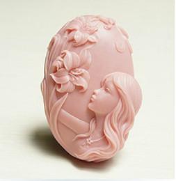 Flower Faerie mold Craft Art Jabón de silicona Moldes Craft DIY Moldes de jabón hechos a mano desde fabricantes