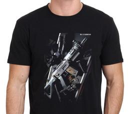 canons m16 Promotion M4 Carbine M16 US ARMY T-shirt Pistolet Carabine Noir: S-XXL