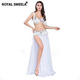 Сексуальная юбка для танца живота онлайн-2018 Free Shipping New Women's high quality sexy belly dance set/costume/belly dancing clothes/bellydance Bra&Belt&Skirt -8805