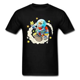 Raum-Astronaut-reine Baumwollmens-T-Shirts druckten Bild-T-Shirt neue Entwurfs-zufällige Spitzen-T-Shirts, die Großverkauf männliche Kleidung besonders anfertigen von Fabrikanten