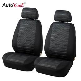 fundas de asiento de coche bordadas Rebajas AUTOYOUTH Fundas para asientos delanteros para autos Airbag Compatible Universal Fit Más para autos SUV Accesorios para automóviles Fundas para asientos para Toyota 3 color