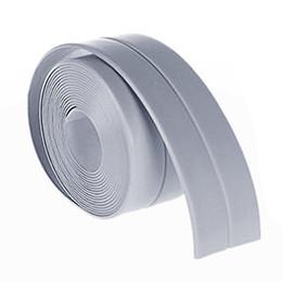 Wholesale Waterproof Kitchen Wall Paper - 38mm*3.2M Home Kitchen Bathroom Bathtub Wall Sealing Tape Strips Mildew Resistant Self Adhesive Tape For Sink Basin Waterproof