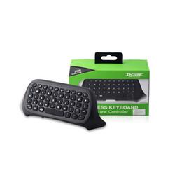 Xbox one controladores sem fio on-line-Mensageiro jogo sem fio bluetooth chatpad teclado teclado de texto pad para microsoft xbox one xboxone jogos de vídeo controlador