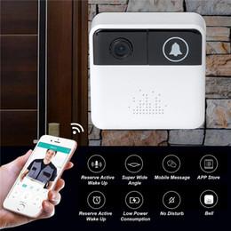 cámaras de seguridad en casa iphone Rebajas 32GB 720P HD Smart Wireless Video Timbre WiFi Cámara de seguridad para el hogar Timbre de la puerta Timbre en tiempo real Video bidireccional de conversación para iPhone Teléfono Android