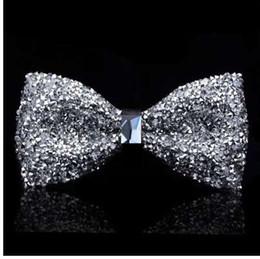 Argentina Nueva pajarita de cristal bling mariposa nudo para hombres banquete de boda banquete fiesta club novio shinning Suministro