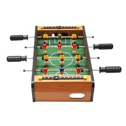 Wholesale Children Pole - Junior Table Football Mini 4 Pole Table Football Bar Entertainment Soccer Table Game Tables hildren Home Parent-Child Interaction Game Kid
