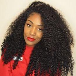 2019 rainha das perucas do laço do cabelo humano Encantador Rainha Cheia Do Laço Perucas de Cabelo Humano Para As Mulheres Negras Afro Kinky Encaracolado Sem Cola Brasileira Remy Cabelo Lace Wigs Com Cabelo Do Bebê rainha das perucas do laço do cabelo humano barato
