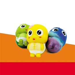 Wholesale Plastic Turtles - Squishy Simulation Bread Slow Rebound Rising Jumbo Kawaii Squeeze Colorized Squishies Super Cute Little Turtle Toy Novelty Items 16xm V