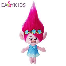 Wholesale children classic movies - The Newest Movie Trolls Plush Toy Movie Trolls Poppy Hug 'N Plush Doll Christmas Toy Gift for Children