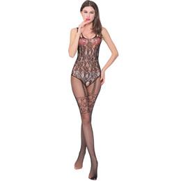 3fd9811725f99 Sexy Lingerie Women Fishnet Seamless Porn Wear Open Crotch Sex Dress Erotic  Lingerie Porno Hollow Tempting Stockings Sleepwear