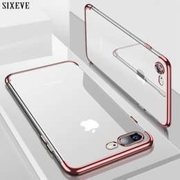 Wholesale Iphone S Cell - Silicon Clear Soft Case for iPhone X iPhone 6S 6 s 6Plus 6SPlus iPhone 7 8 7Plus 8Plus slim Cell Phone Cover Casing