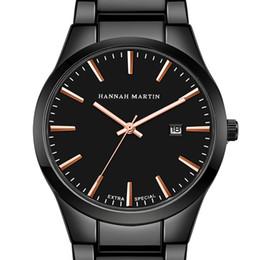 Черные часы вольфрама онлайн-2018 мужские стальные пояса водонепроницаемый IP вакуумные часы авторизованные бизнес случайный вольфрама черный календарь кварцевые часы