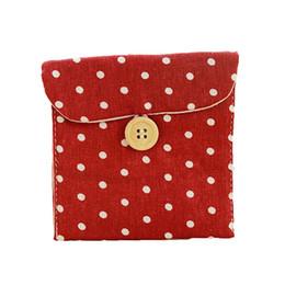 Portafogli portatile Miglior regalo Ragazza pannolino di cotone Sacchetto di tovagliolo sanitario Organizzatori di imballaggio Borsa da viaggio Borsa da viaggio Moda Mini portafogli da