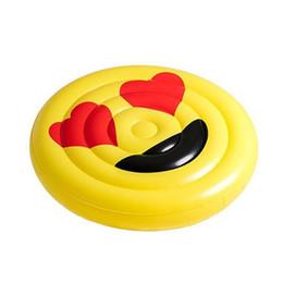 2019 caráter inflatables Inflável Flutuante Mat Círculo de Natação de Verão Praia Rosto Sorridente Amoroso Olhos Brinquedos Espessamento Aquático Monta Caráter Expressão 53yn V caráter inflatables barato