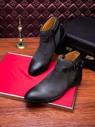 2019 botas planas de moda del tobillo de las mujeres 2018 A estrenar Mens PR D alta calidad genuina cuero nobuck botas de color negro caqui gris oscuro tamaño 38-44 dropshipping