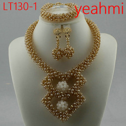 Canada 2018 Collier de perles de corail africaines ensemble mariage nigérian africain perles bijoux ensemble Livraison gratuite LT130-2 cheap african coral necklaces Offre