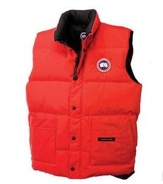 Wholesale men vests cotton outdoor - Canada outdoor quality male models down vest vest ski cold and warm thickening