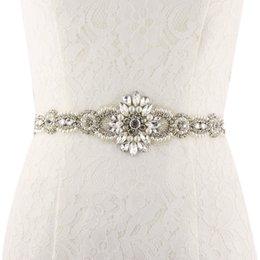 Свадебный пояс Великолепного кристалла для новобрачного Handmake высокого качества Свадебных аксессуаров Женщин пояс события Pearl пояса ZA028 от Поставщики чёрные юбки