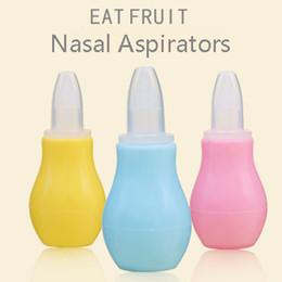 Wholesale baby nasal cleaner - 3Colors Anti-backwash Nasal Aspirators Food Grade Silica Gel Nasal mucus Clean Tool Health Care Baby Accessories Safety Innocuity 100pcs