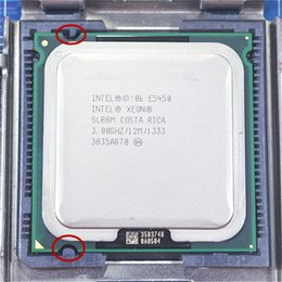 Wholesale Quad Core Processor 775 - Computer Components CPUs Intel Xeon E5450 Quad Core 3.0GHz 12MB SLANQ SLBBM Processor Works on LGA 775 mainboard no need adapter