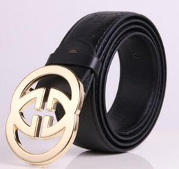 Wholesale Black Hat Fashion - New Black color Luxury High Quality Designer Belts Fashion Geometric pattern buckle belt mens womens belt ceinture F optional attribut