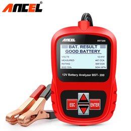 Deutschland Großhandel BST200 Professionelle 12 V 100-1100 CCA 220AH AGM GEL Autobatterie Tester Digital Analyzer für Auto Motorrad Boot supplier agm batteries Versorgung